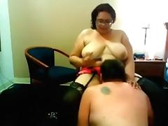 My hubby enjoys licking my thick bawdy cleft in front of my cam