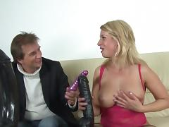 Anal Toys, Amateur, Anal, Assfucking, Big Tits, Blonde