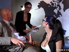 Office, Babe, Blowjob, Brunette, Glasses, Naughty