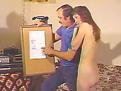 Homemade reality retro video with nude amateur girl