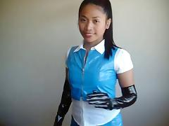 Latex, Asian, Latex, Skirt