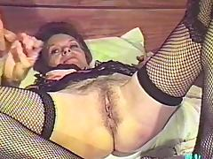 This mature amateur granny gives head and uses her toy