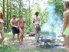 Dominika & Eva Berder & Jenny & Penny & Rita-Moor & Sabrina in free outdoor porn with lots of slutty chicks