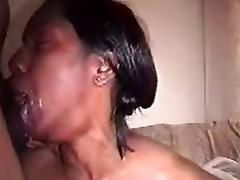 Young tenant gives me sloppy head and facial