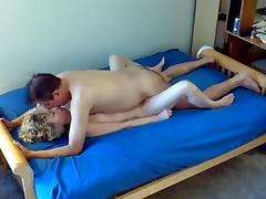 Mom and Boy, Amateur, Blonde, Couple, Fucking, Mature