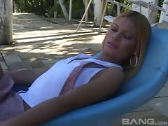 Tasty shemale lets her guy throb her anally hardcore