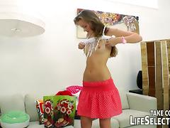Awesome anal fucking with the cute teen Lili Lamour