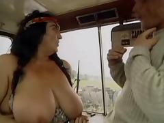 UGLY GRANNY WITH HUGE BOOBS FUCKED  BY THE MECHANIC 2