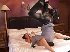 Fucking session gets improved with her hot friend coming in