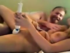Couple Dildo Play