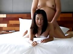 Chinese Beauty and the Fat Tiny Dick Guy
