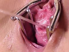 Speculum, Brunette, Close Up, Fetish, Pissing, Speculum