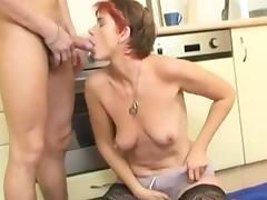Lusty cougar gets her asshole fucked