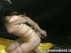 In bondage and still needs her beaver eaten ,naughty babe with a fetish