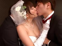Bride, Asian, Blowjob, Bride, Cheating, Cuckold