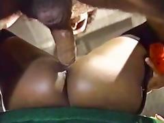 Domonique Simone, Derek Lane, Randy West in Ron Jeremy fucking big breasted ebony babe