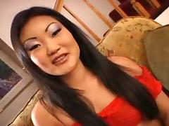 Asian cutie that needs two cocks inside her to get pleased