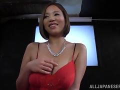 All he can think about are her huge and sexy Japanese tits