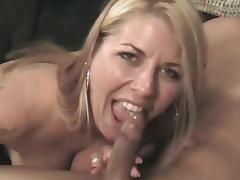 Hot blonde slut Jocelyn blows and gets her pussy fucked deep