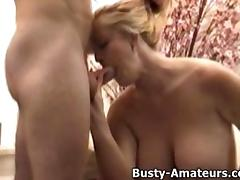 Busty Heather sucking cock and getting fucked