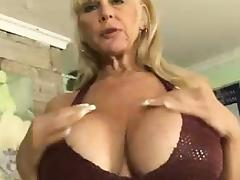 Mom and Boy, Big Tits, Blonde, Boobs, Fucking, Granny