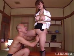 Submissive woman tied up and fucked hard in her hairy cunt