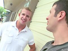 Hot Gays action as dudes in the garage decide to fuck deep