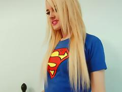 Hot supergirl seduces with her sweet lips and perky tits