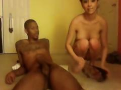 yet another young interracial couple webcam