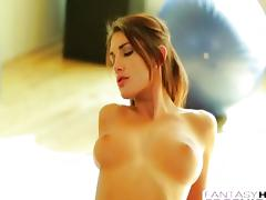 Very hot busty August Ames fantasy fuck