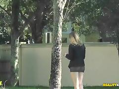 Business woman MILF agrees to go home with a guy and get drilled hard