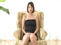 Mikoto Tsukasa sweats and gets oily as she fucks around the house