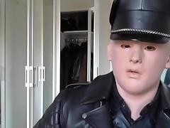motard cuir masturbation leather biker