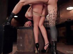 naughty keira got tied up and banged