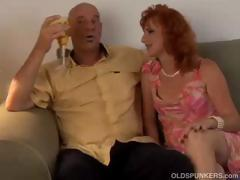 Sexy mature red head loves to fuck porn video