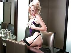 Brett Rossi looking hot in purple lingerie