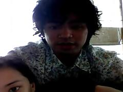 Cute Pinay Couple Webcam Fuck