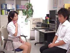 Sexy teacher Arisa Misato fucks her students in group porn