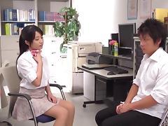 Sexy teacher Arisa Misato fucks her students in group porn