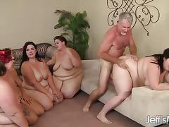 Fat Orgy, Babe, BBW, Chubby, Chunky, Fat