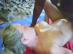 Beach, Beach, Black, Cuckold, Ebony, Fucking