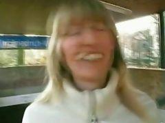 german blonde has anal