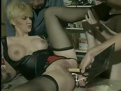 Short Hair, Anal, Blonde, German, Piercing, Stockings