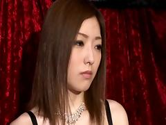 A group of guys works Ai Haneda's tight holes and make her cum