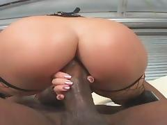 Redhead bitch Katja Kassin pounded in the ass by big black cock