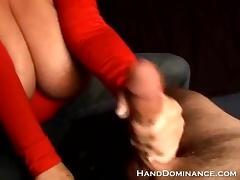 Big Tit Latina Femdom giving hand