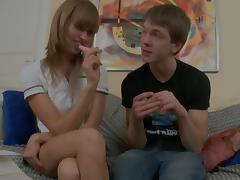 Savannah in anal sex video with a really hot chick and her guy