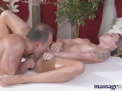 Massage Rooms Horny tattoo girl loves cock