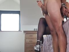 British, Amateur, British, Handjob, Stockings, UK
