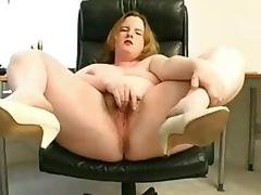 Fat chubby girl with nice tits showing hairy pussy